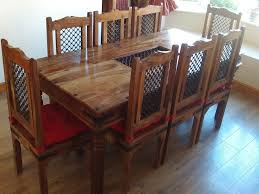 Rosewood Dining Table Indian Sheesham Jali Rosewood Dining Table And 8 Chairs In