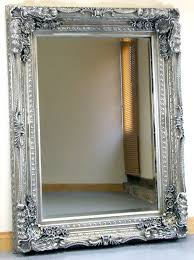 carved louis silver ornate french frame wall over mantle mirror 35in x 47in co uk kitchen home
