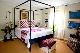 wall sconces for bedroom eclectic with sisal dark wood canopy beds