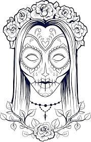 Printable Skull Coloring Pages Antiatominfo