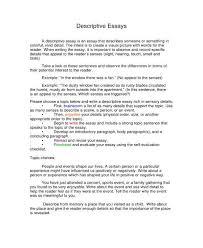 5 free descriptive essay templates