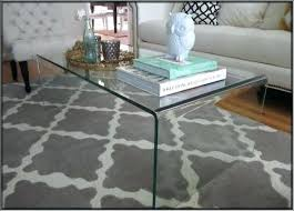 waterfall acrylic coffee table all glass styling design with shelf