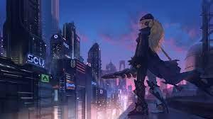 1366x768 Anime Girl In City 4k 1366x768 ...