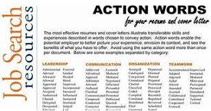 Are you using action words for your resume here 39 s a list for Action words  for writing .