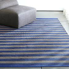 blue and white stripe indoor outdoor rug striped 5x7 navy jute reviews crate barrel furniture