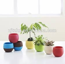 office planter. Mini Round Plastic Plant Flower Pot Home Office Decor Planter