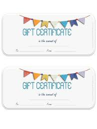 gift card template free gift certificate template customize online and print at home