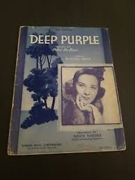 Deep Purple vocal edición Partituras Peter de Rose Robbins música Doris  Rhodes | eBay