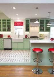 1950 s retro kitchen the kitchen cabinets are all a custom retro shade of green