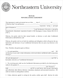 Mutual Confidentiality Agreement mutual non disclosure agreement template mutual non disclosure 7
