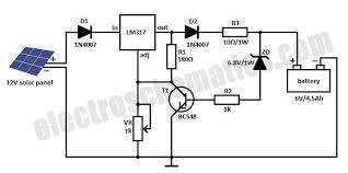 solar charger circuit for v battery solar charger circuit schematic