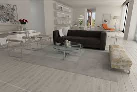 patchwork cowhide rug in white squares in modern living room