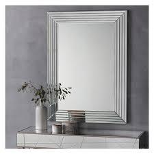 modern glass framed wall mirror