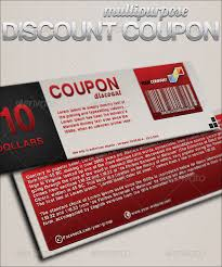 coupon design redeem coupon template