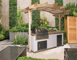 Small Outdoor Kitchen Designs Nice Outdoor Kitchen With Gazebo Small Space Lp Gas Built In Grill