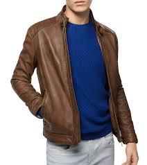 mens brown leather jacket emy men leather biker jacket leathersketch