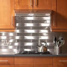 Stainless Steel Backsplash Kitchen Faux Stainless Steel Backsplash Merunicom