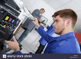 Printer Technician Young Printer Technician Stock Photo 246860481 Alamy