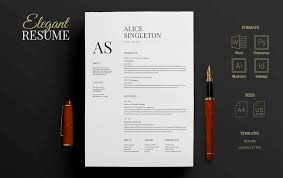 Elegant Resume Templates Awesome 48 Eye Catching CV Templates For MS Word Free To Download