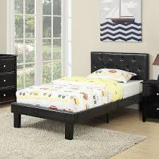 Poundex Black Twin Platform Bed at Lowes.com