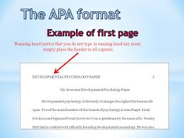 Example Of Running Head Apa Psychology Essay Running Head College Paper Example