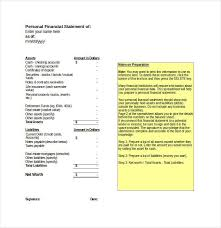 Personal Financial Statement Form Inspiration 48 Financial Statement Templates PDF DOC Free Premium Templates