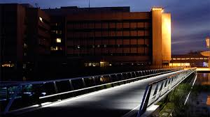 high tech lighting. bridge at high tech campus, illuminated effectively with philips outdoor lighting