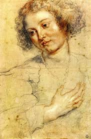 Rubens <b>Peter Paul</b> Head and right hand of a woman - Rubens-Peter-Paul-Head-and-right-hand-of-a-woman