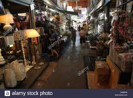 walkway near a home decor shop at chatuchak weekend market in
