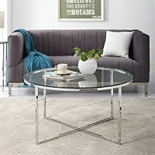 walker edison 36 coffee table with x
