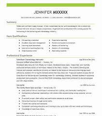 Resume For Cosmetologist Tributetowayne Com