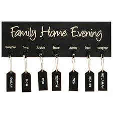 Family Home Evening Board W Tags