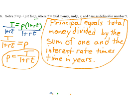 5 6 literal equations reviewing and foreshadowing math algebra showme