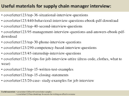 12 useful materials for supply chain manager supply chain manager cover letter