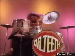 animal muppet drums gif.  Gif Muppet Show  ANIMAL Drum Solo On Animal Drums Gif