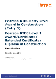 Btec Level 1 Construction | Pearson Qualifications