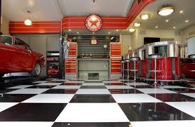 garage interior. The Streamliner Garage Industrial-garage Interior