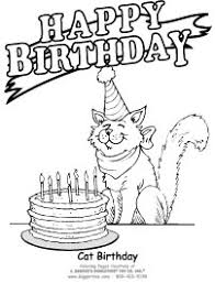 BirthCat5 birthday coloring pages giggletimetoys com on birthday coloring card