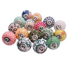 1pcs Assorted Multicolor Vintage Floral <b>Ceramic Round Drawer</b> ...