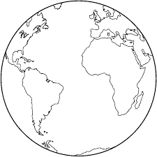 Earth Black And White Clipart