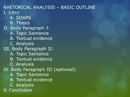 ap review the essays ppt video online 3 rhetorical analysis basic outline