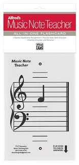 Alfreds Music Note Teacher All In One Flashcard White