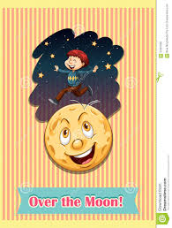 Over The Moon Design Ltd Man Over The Moon Stock Vector Illustration Of Drawing