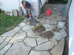 interior how to lay flagstone patio cost installed