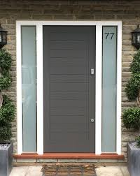 Modern front door Tall Modern Front Door With Side Panels Bahroom Kitchen Design Modern Front Door With Side Panels London Door Company