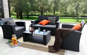 amazoncom patio furniture. Image Black Wicker Outdoor Furniture. Baner Garden Furniture Complete Patio Rattan Set, Amazoncom