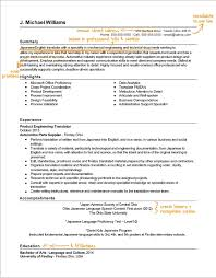 Translator Resume Writing Example Success Story Topresume