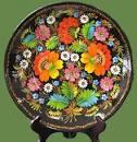 Раскраска геометрический орнамент на посуде