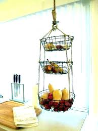 hanging baskets on wall wall mounted produce basket chic ideas wire wall hanging baskets hanging baskets
