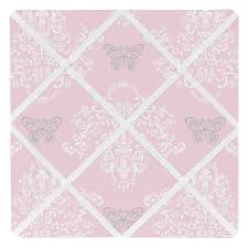 Damask Memo Board Alexa Collection Damask Print Fabric Memo Board 33